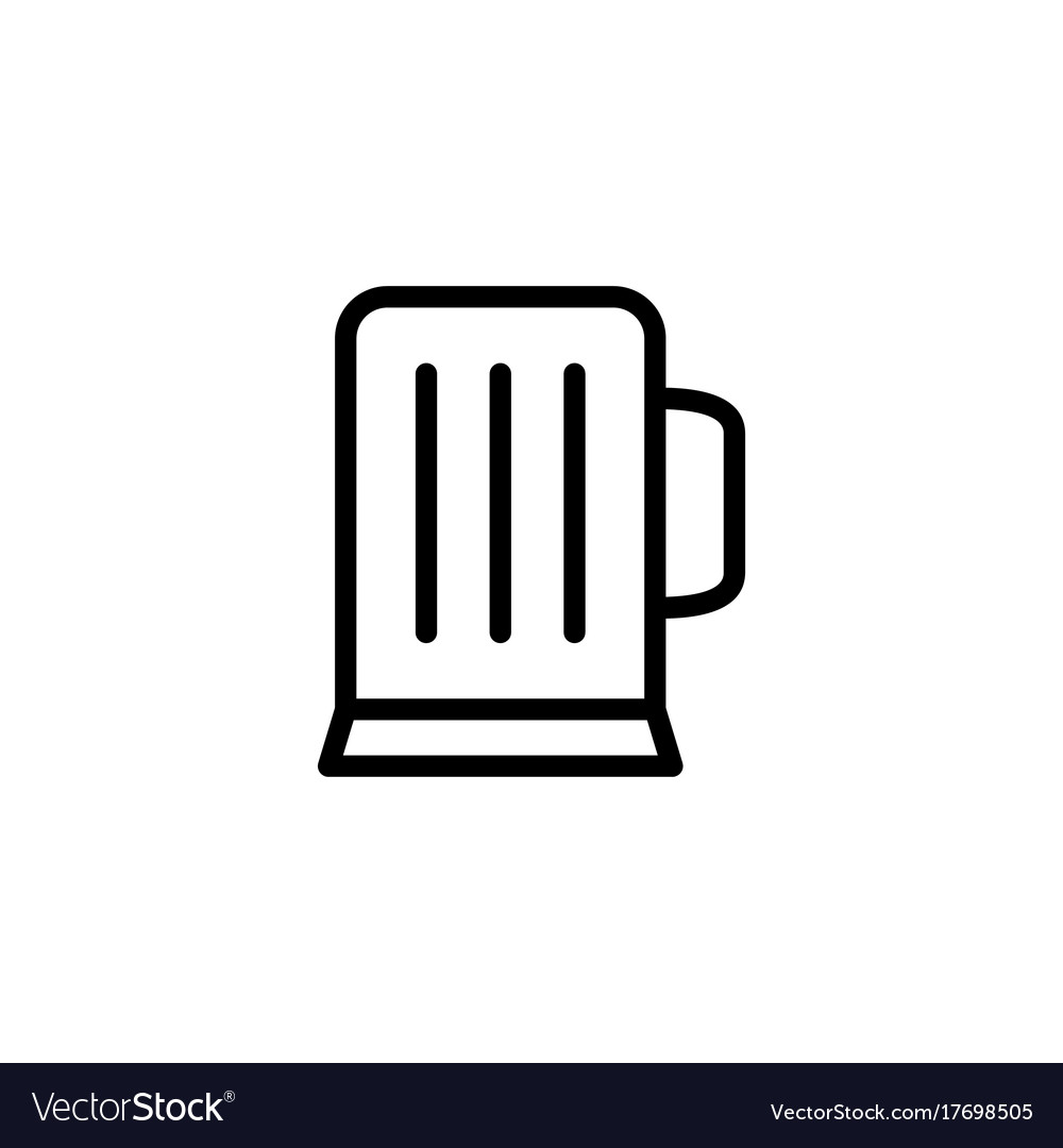 Thin line beer glass icon vector image