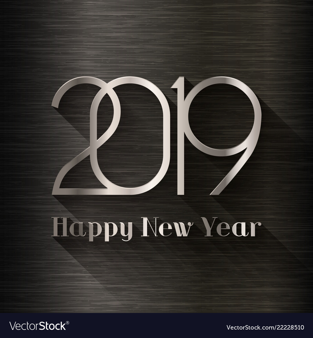 2019 happy new year design template vector image