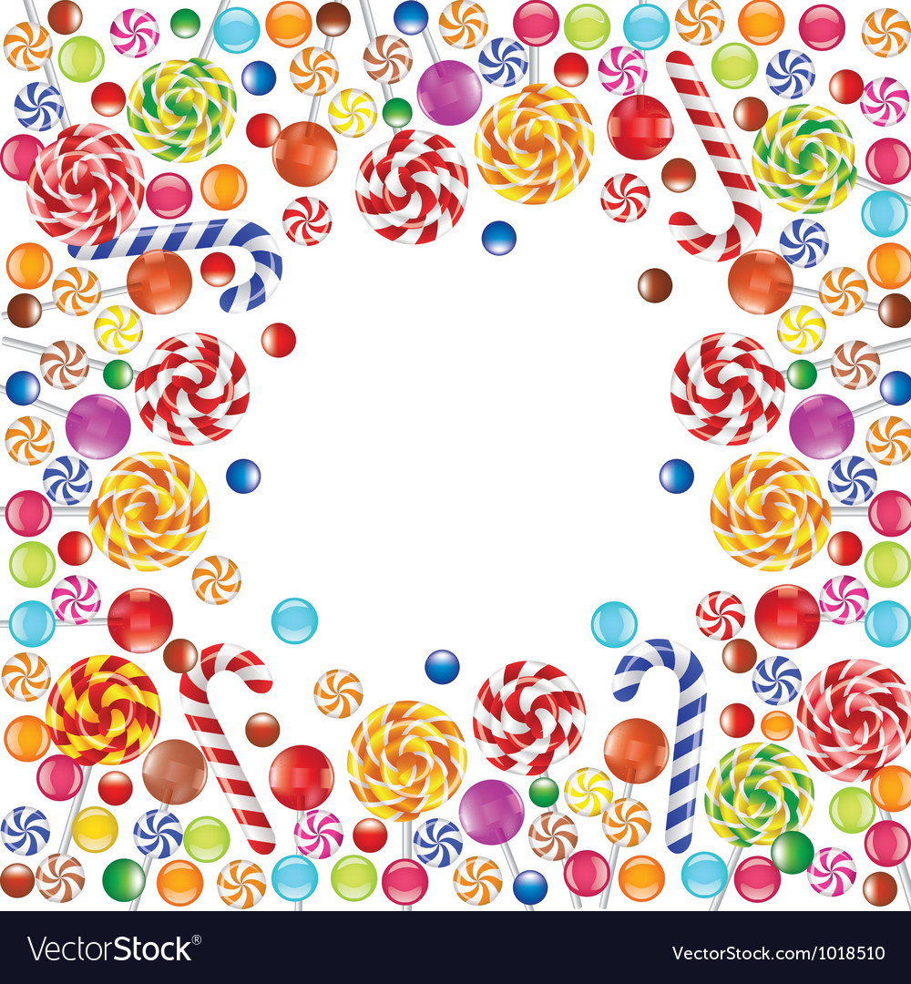 Candies frame vector image