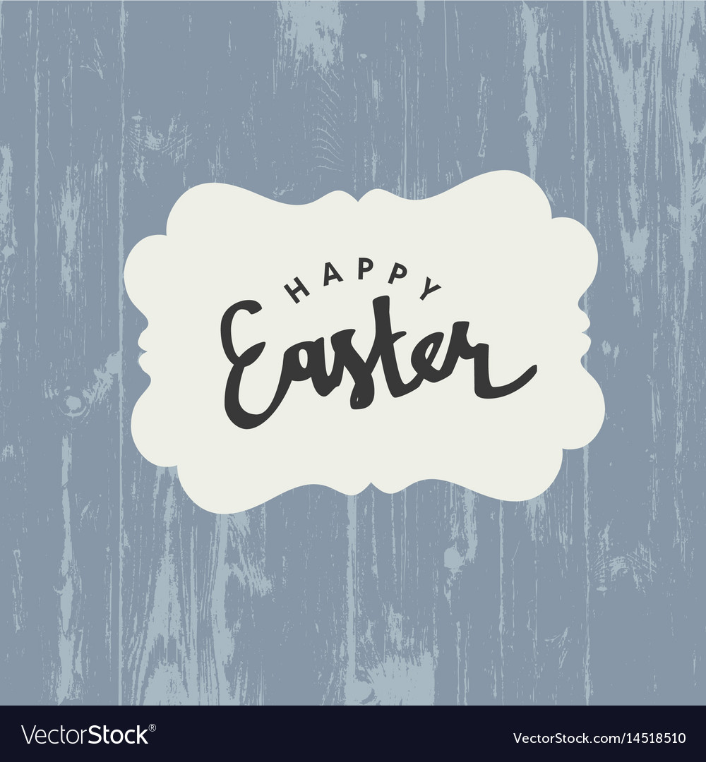 Easter greeting card with happy easter text on vector image