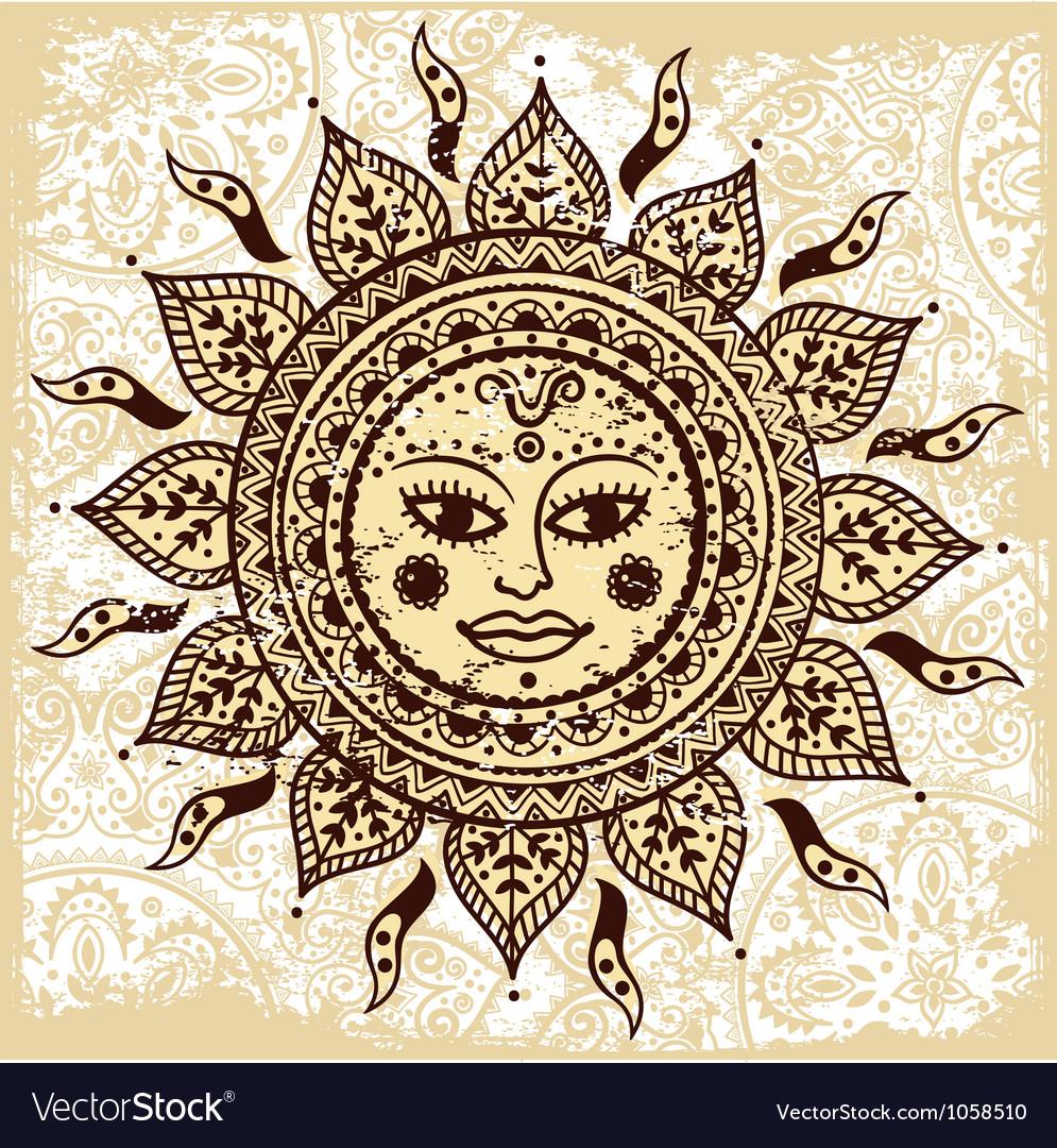 Ethnic ornamental sun
