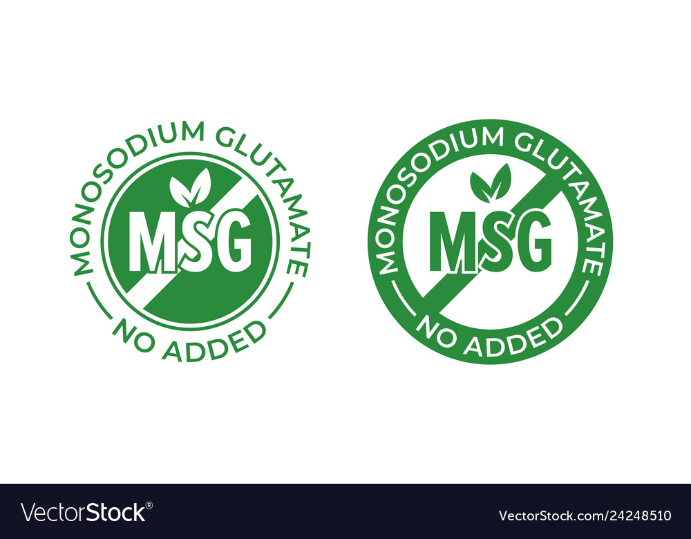 Glutamate no added icon contain no msg monosodium