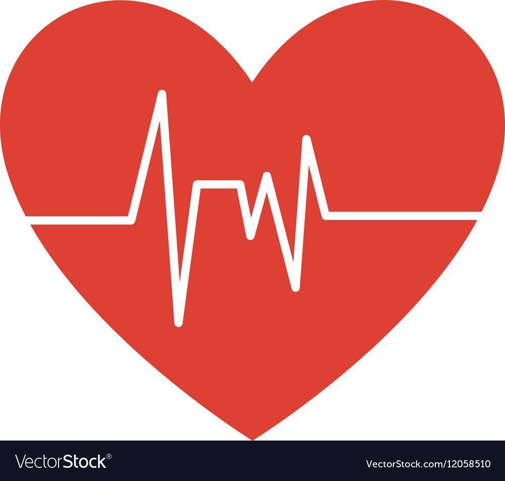 healthy heart symbol isolated icon royalty free vector image rh vectorstock com heart icon vector free heart icon vector free download