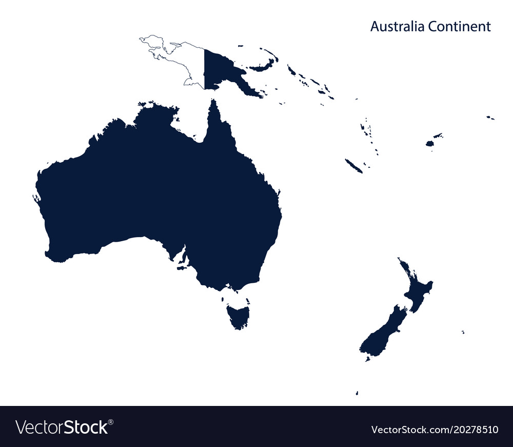 Australia Map Vector.Map Of Australia And Oceania Continent