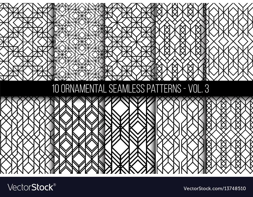 Set of universal different geometric seamless