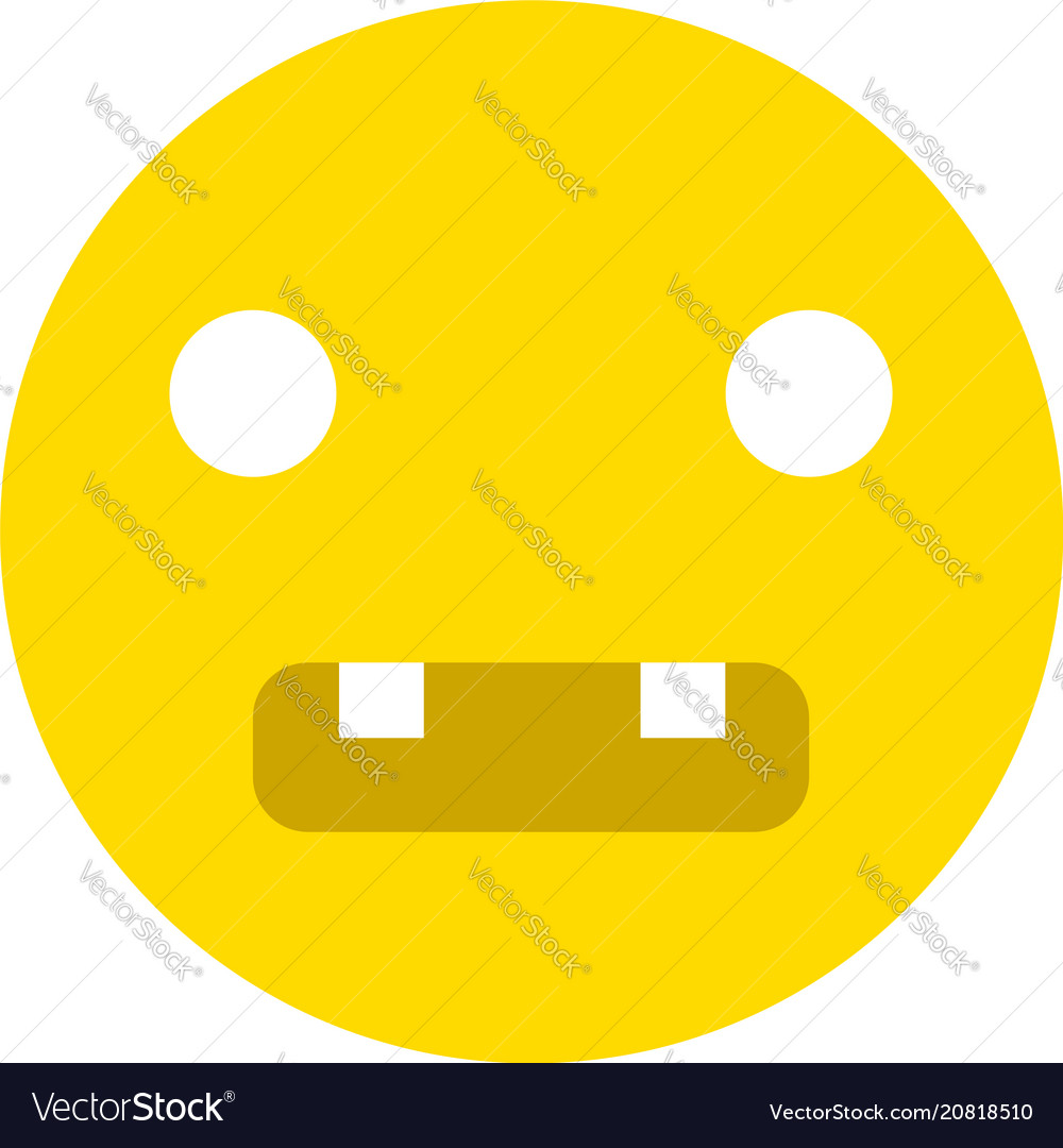 Toothed smiley icon vector image