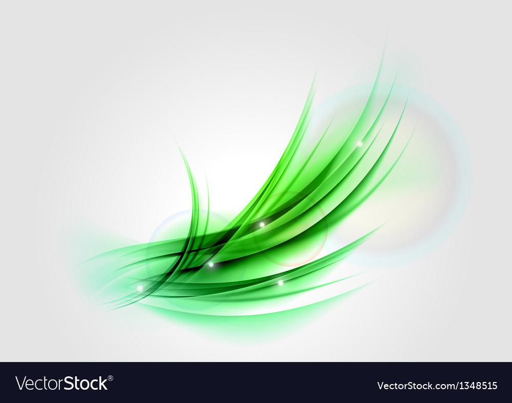 Abstract green light shape
