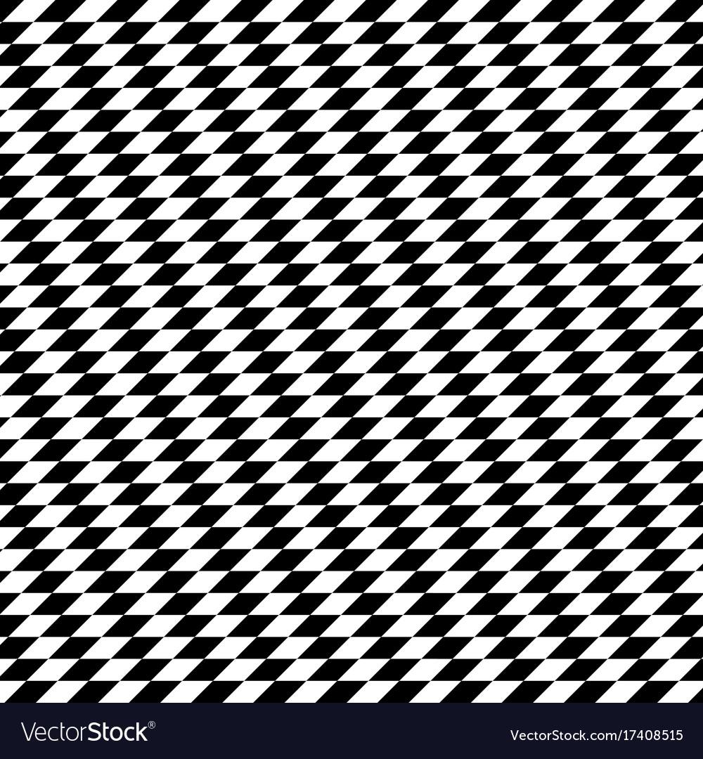Black and white diamond shape modern geometric vector image