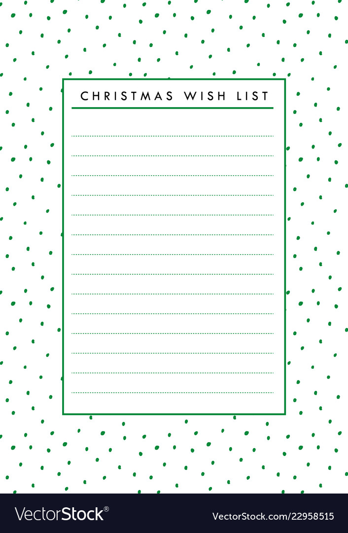 picture regarding Printable Wish Lists identified as Xmas desire listing blank paper printable