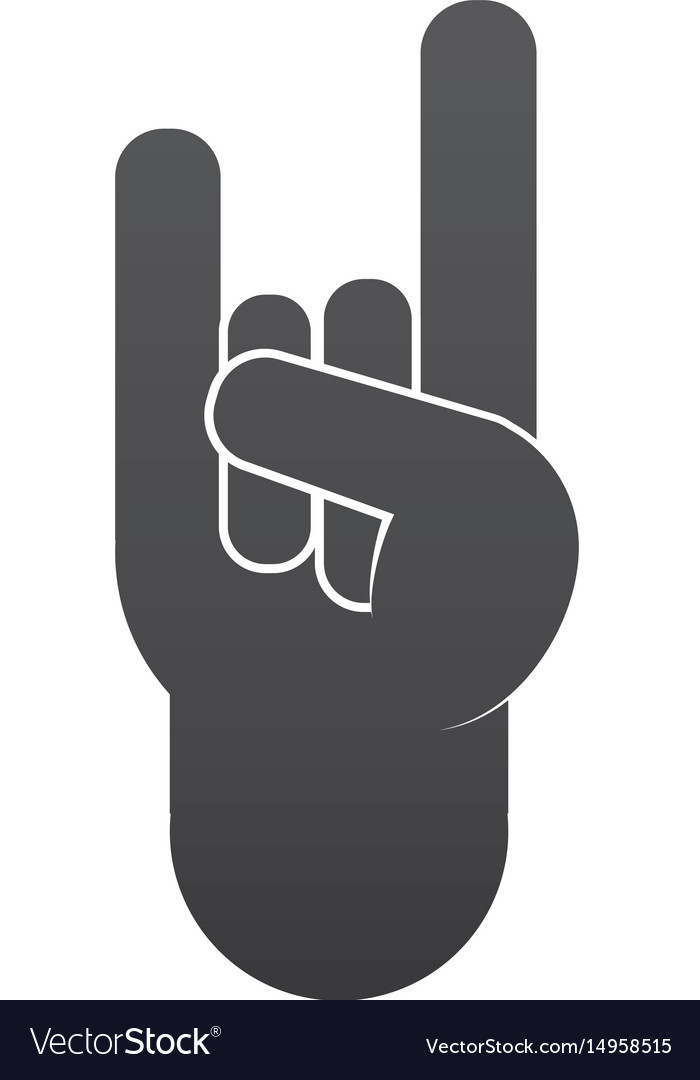 Cute Hand Up With Rock Symbol Royalty Free Vector Image