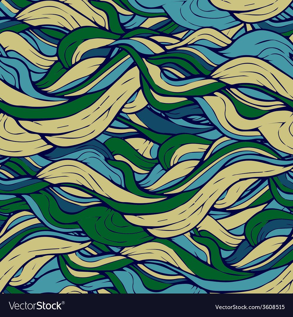 Decorative ornamental pattern hair algae