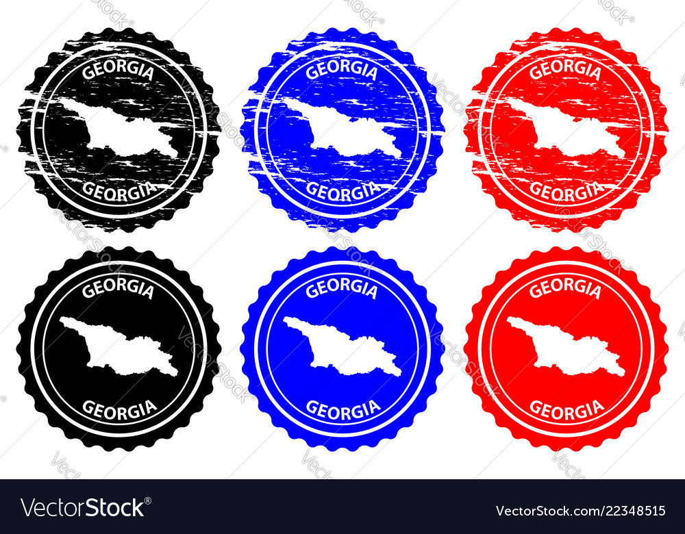 Georgia rubber stamp vector image on VectorStock