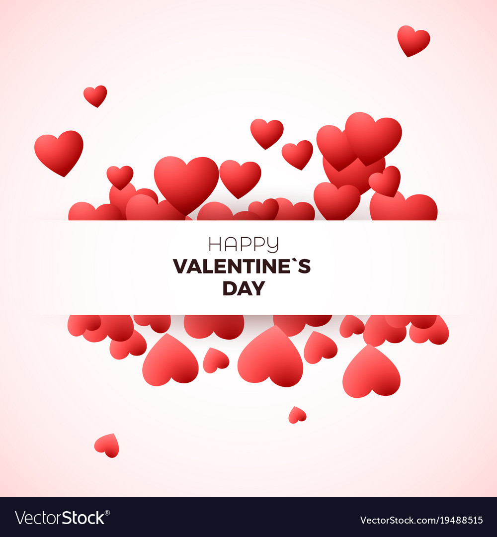 Happy Valentines Day Greeting Card Concept Design Vector Image
