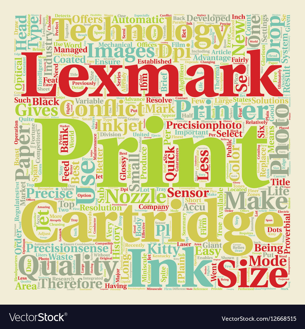 Lexmark Relatively new to the market but already vector image