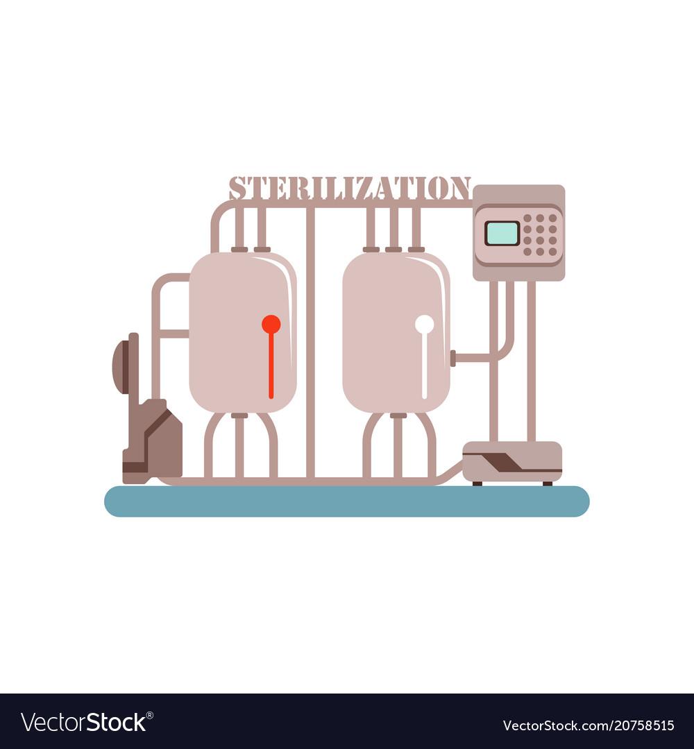 Milk sterilization equipment production of milk