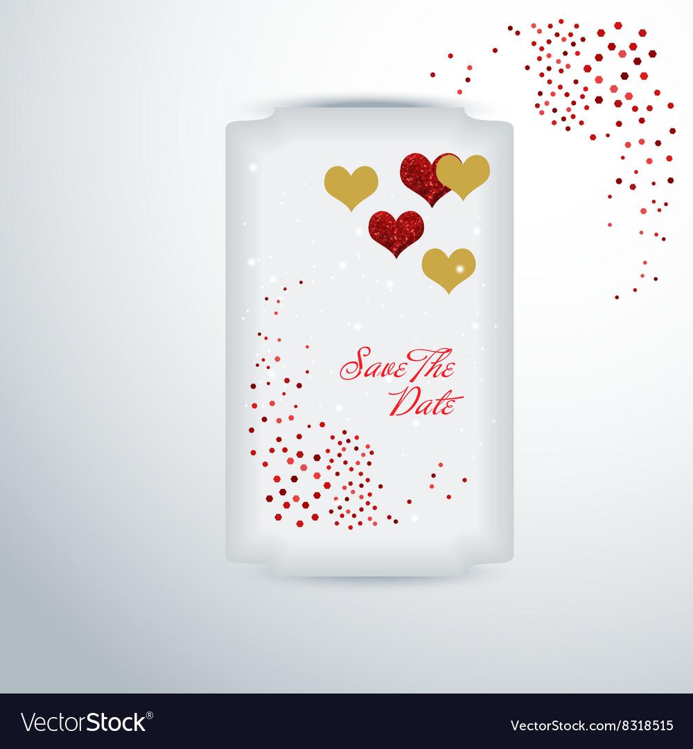 Wedding invitation or greeting valentine day card