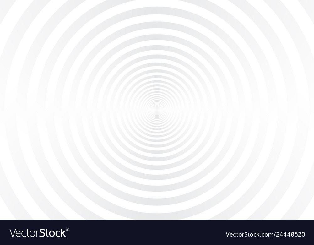 Abstract white and gray radial circles tunnel