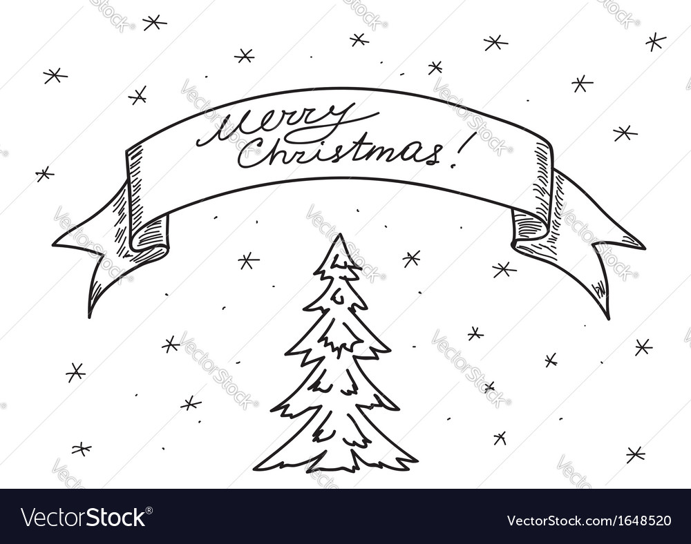 Christmas Images For Drawing.Card Merry Christmas Hand Drawing