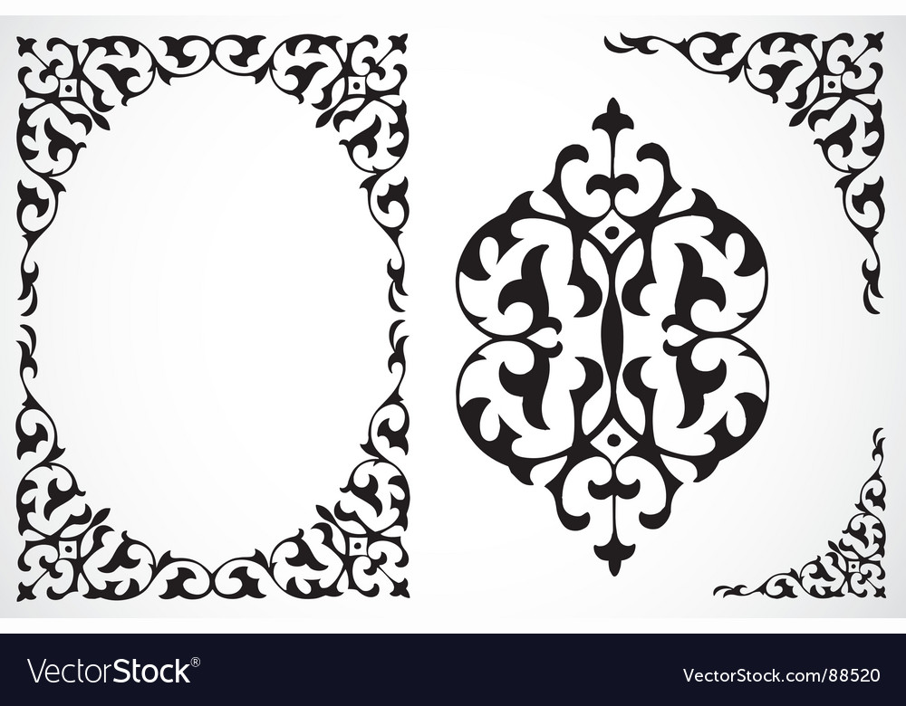 frame and ornaments royalty free vector image vectorstock rh vectorstock com vector ornaments designs laser vector ornaments border