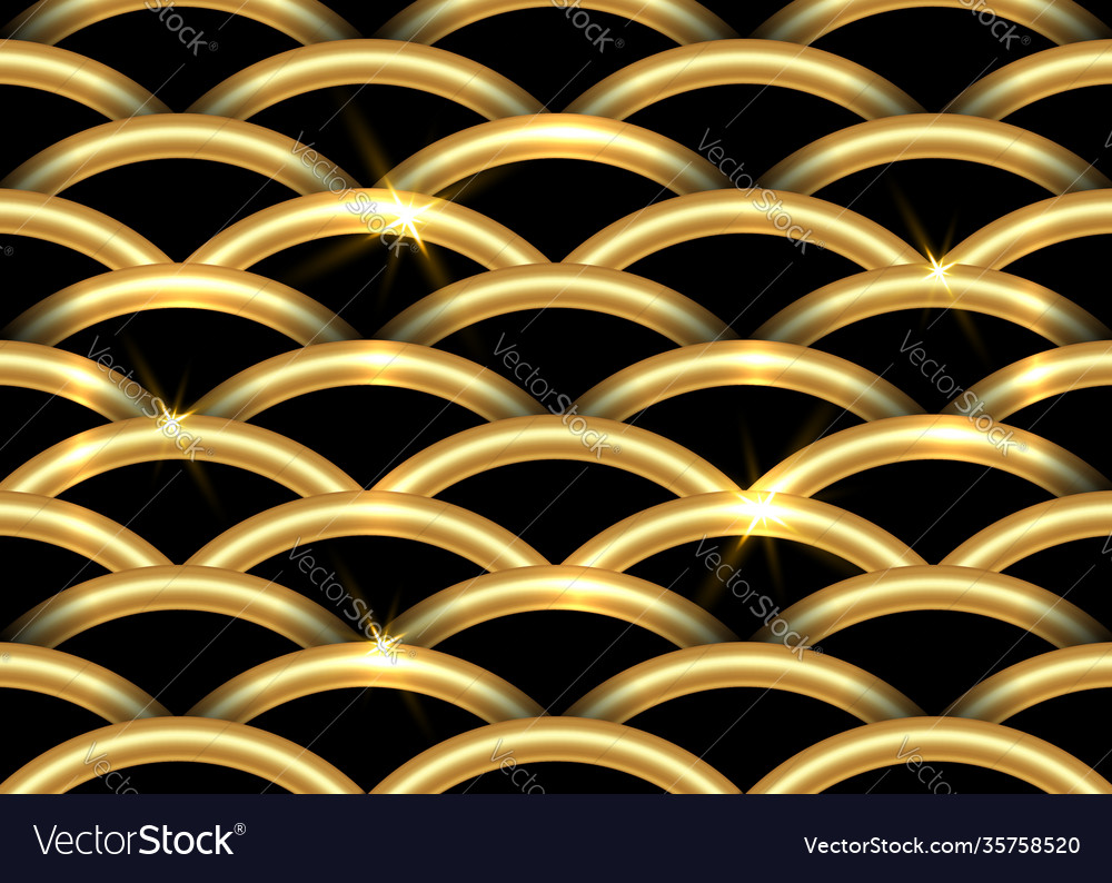 Golden fish-scale pattern beautiful oriental tile