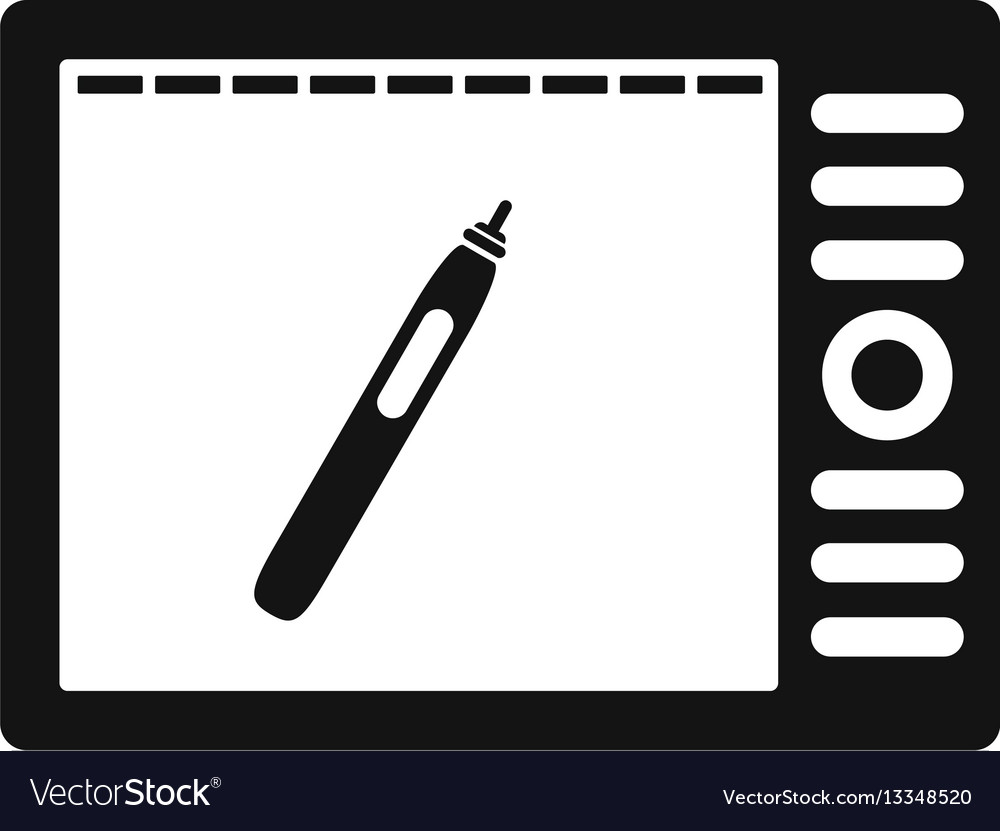 Graphics tablet icon simple style