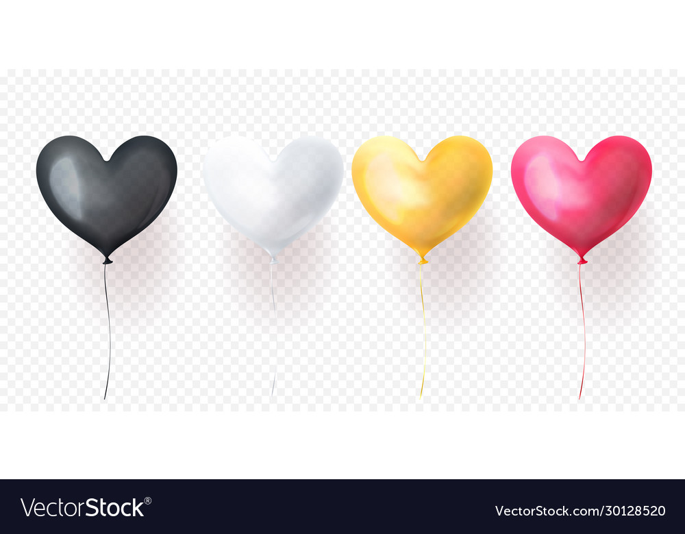 Heart balloons for valentines day wedding or