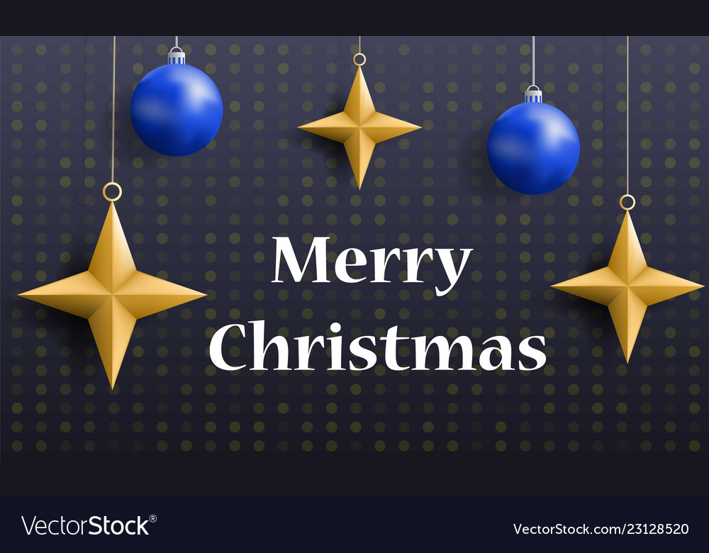 Merry christmas holiday concept banner realistic