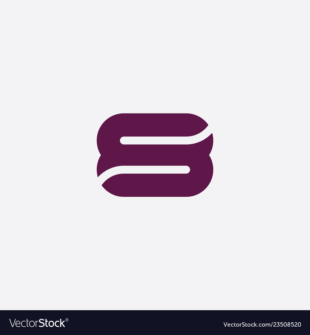 Purple s letter or number eight icon logo