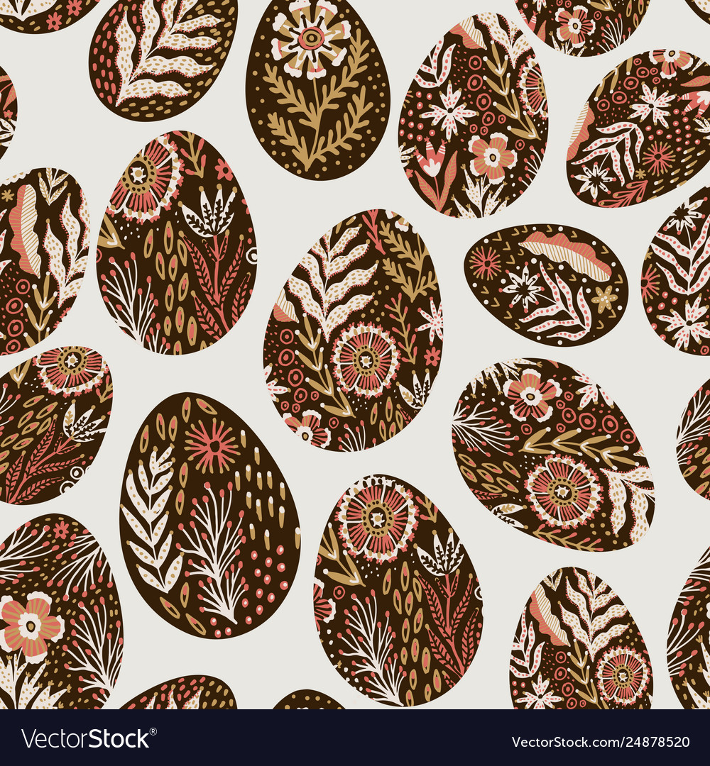 Seamless eggs pattern on easter theme graphic