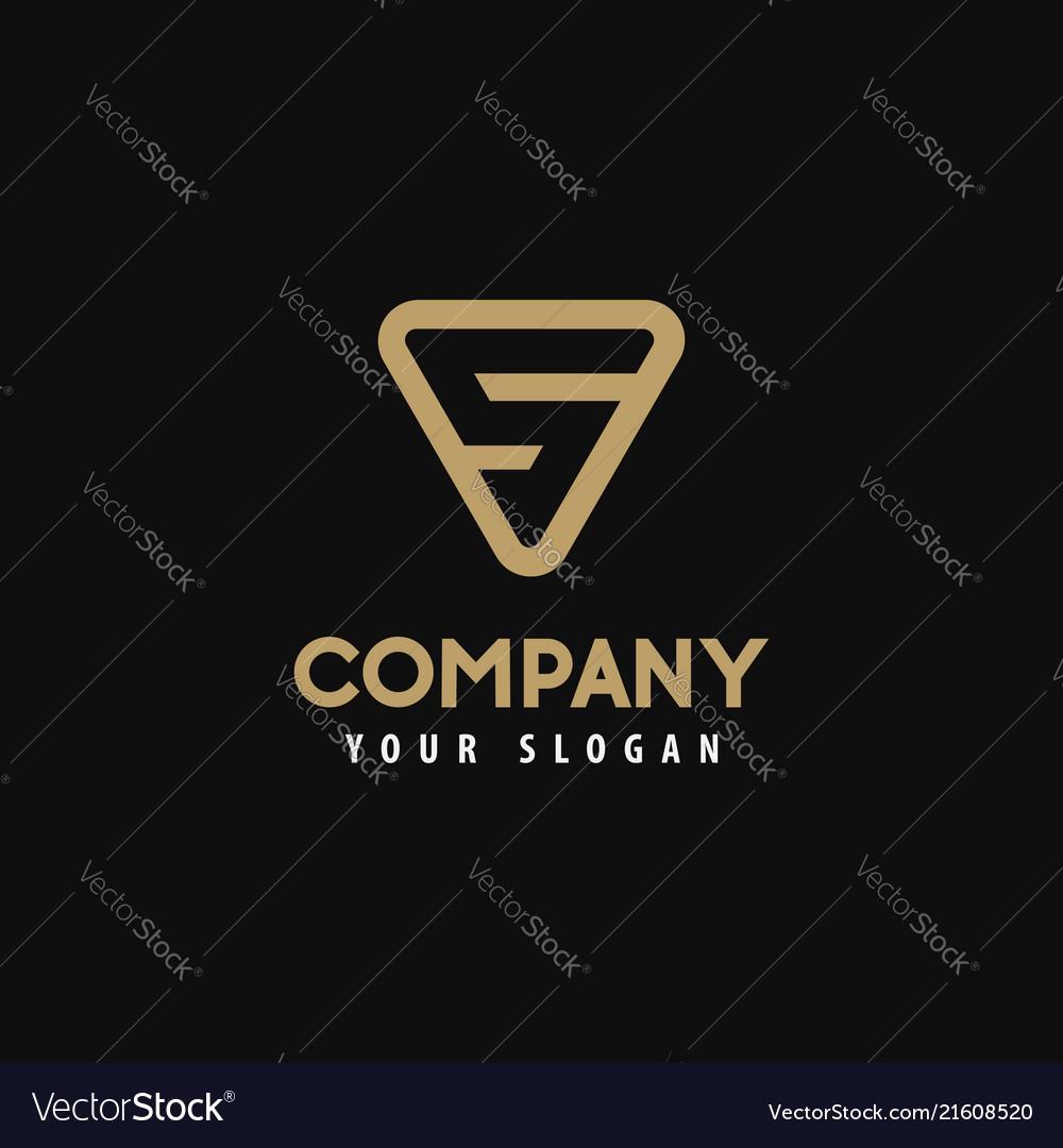 Template logo letter s golden logo