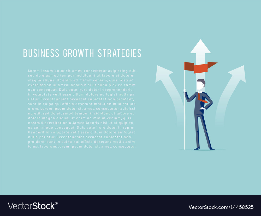 Business growth strategies oncept businessman hold