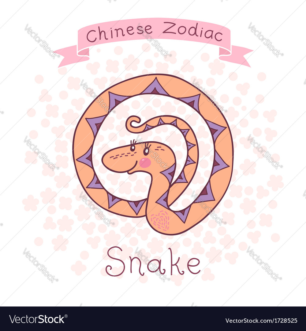 chinese zodiac snake royalty free vector image