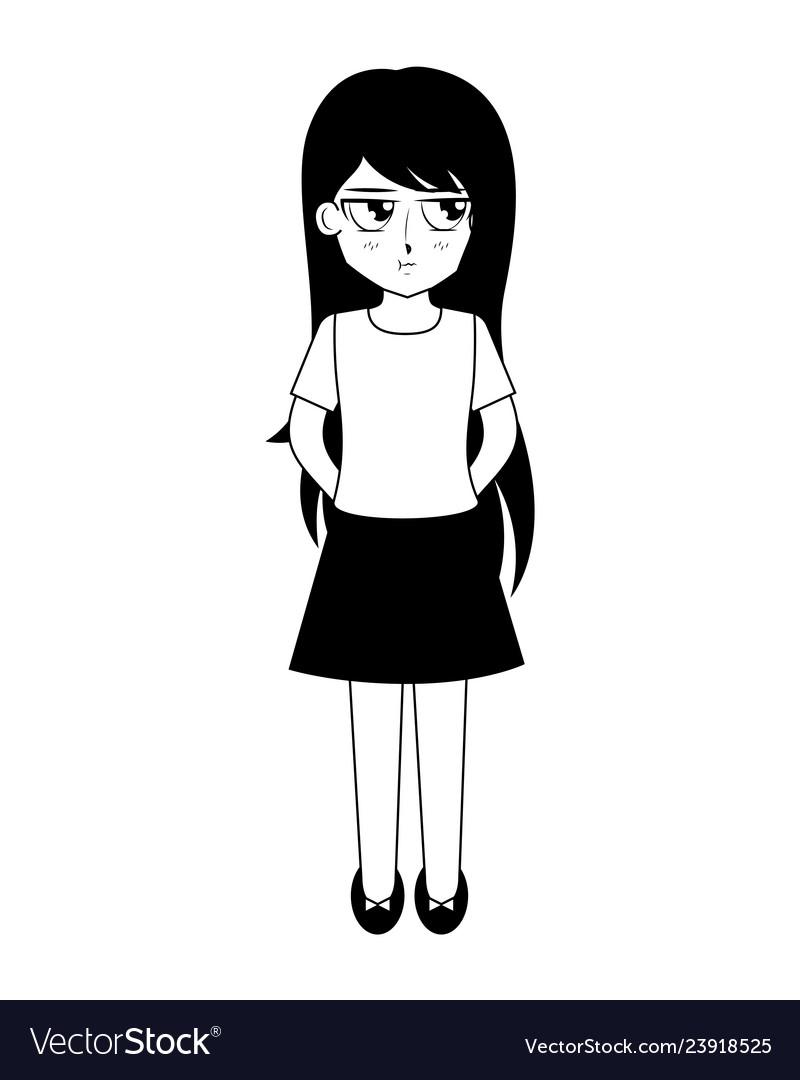 Cute anime girl manga