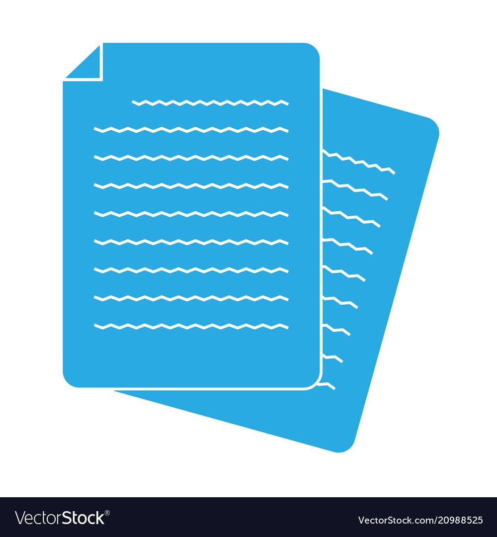 Document icon on white background flat style