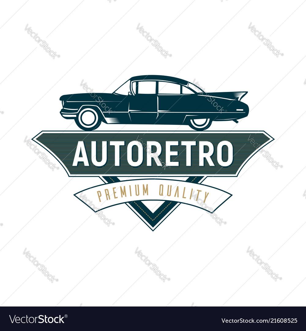 Retro car logo template design vintage logo style