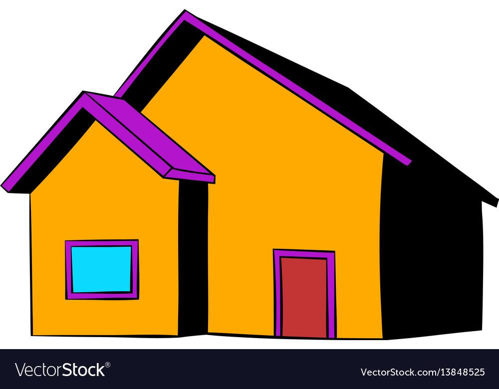 Small cottage icon icon cartoon vector image