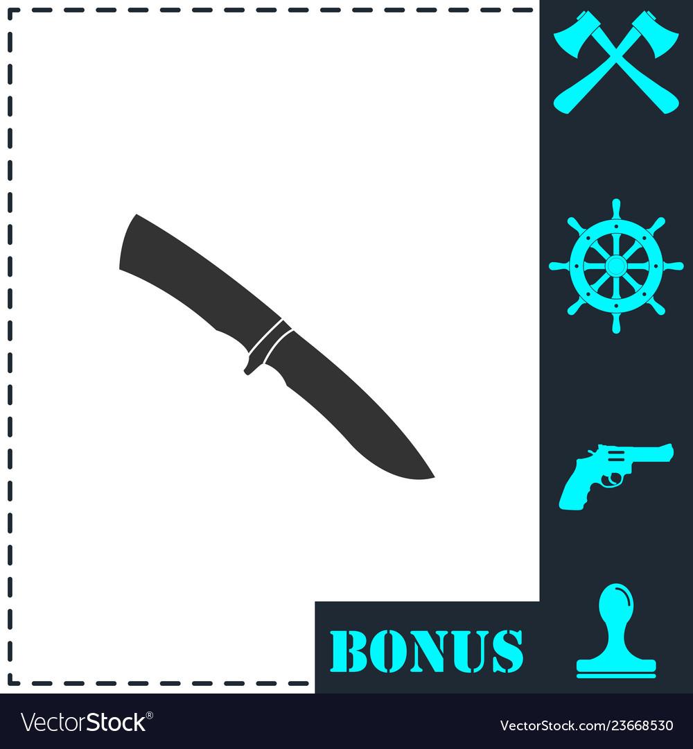 Knife icon flat