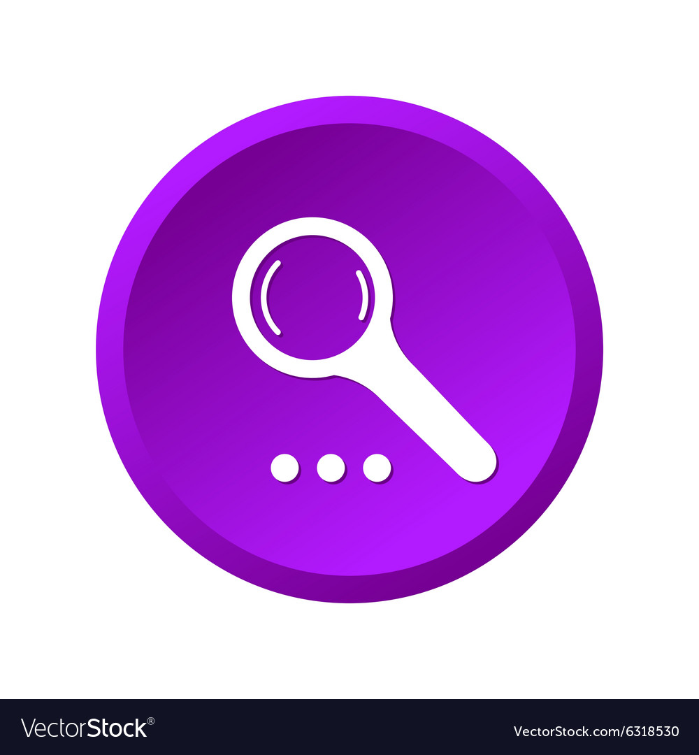 Magnify purple icon vector image