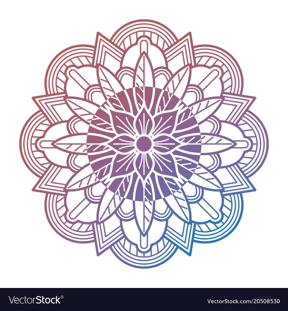 Meditation oriental mandala flower