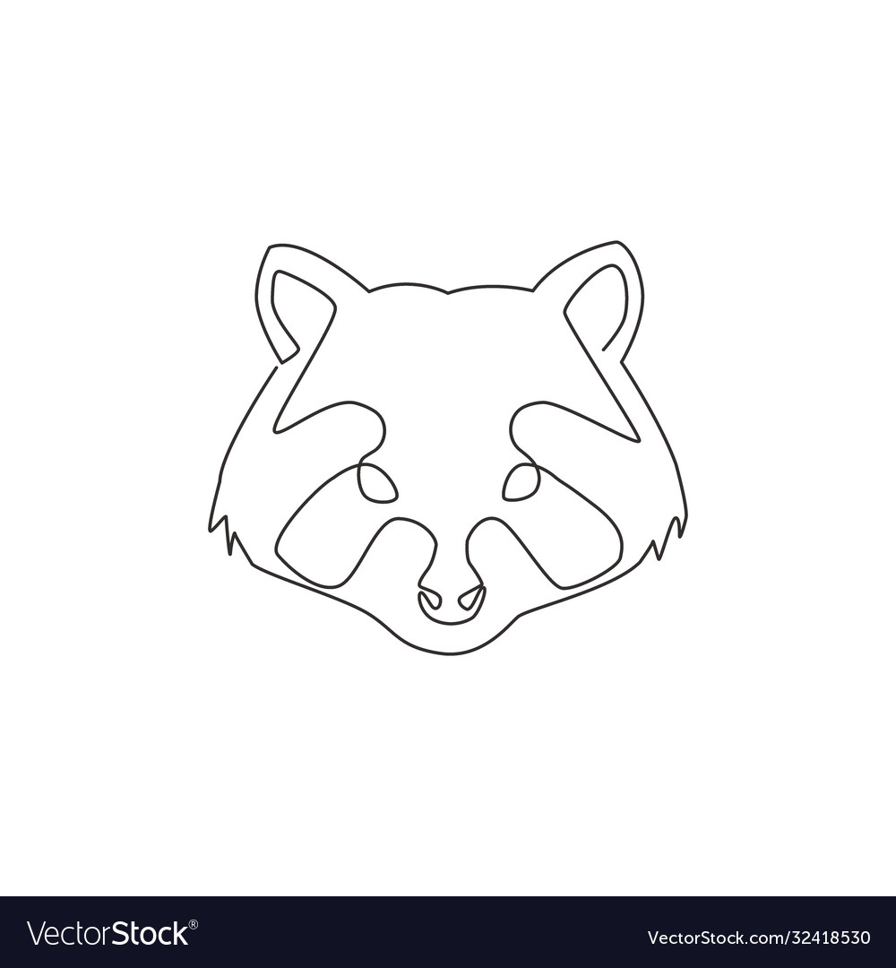 One continuous line drawing wild but cute head