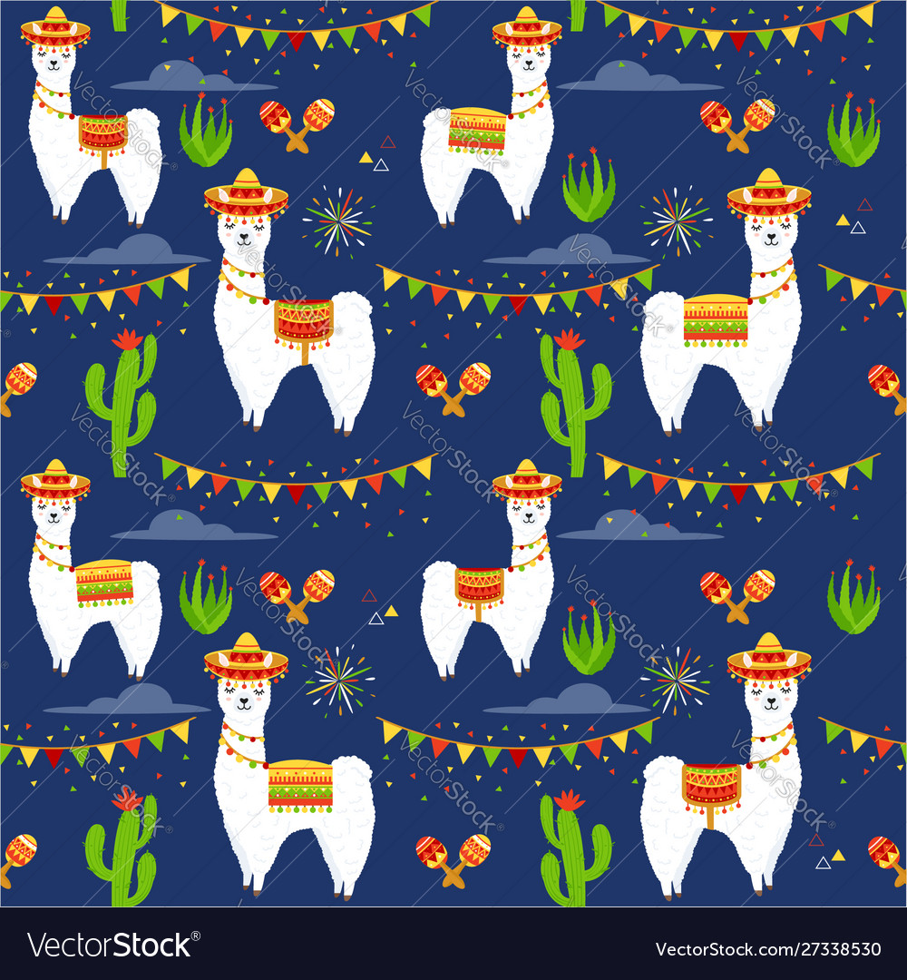 Pattern with llama alpaca vector