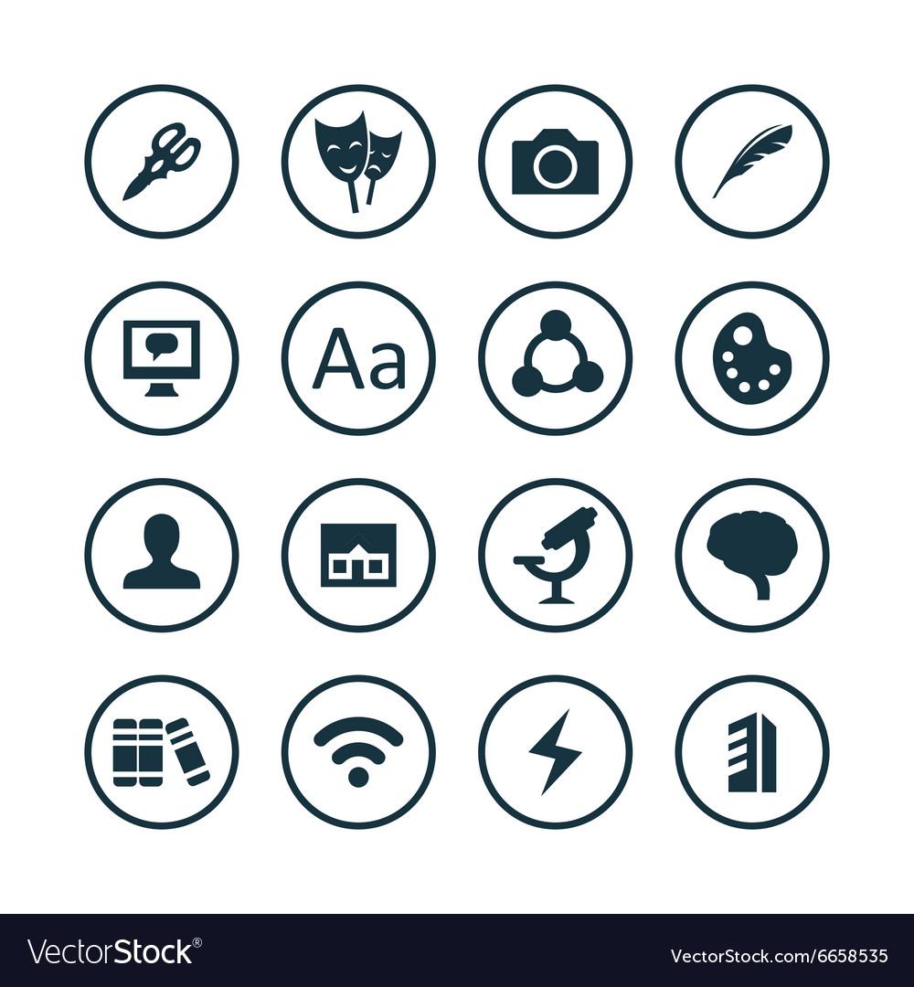 Art design icons universal set
