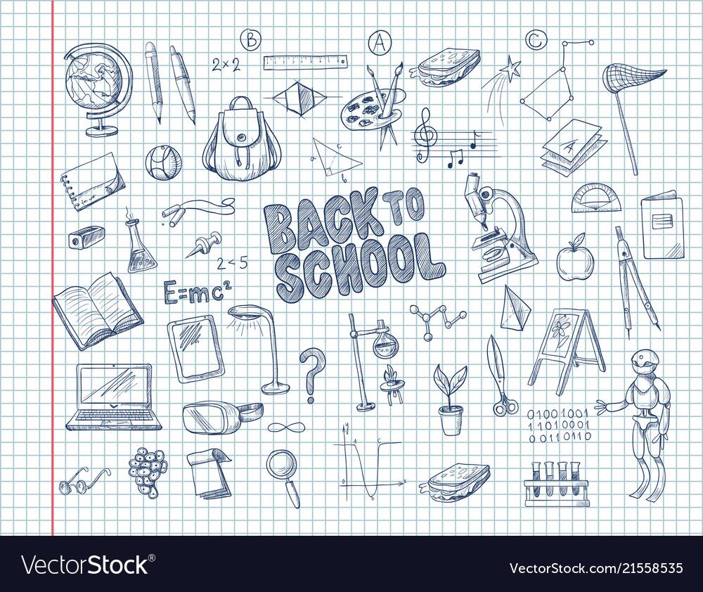 Big set of school supplies