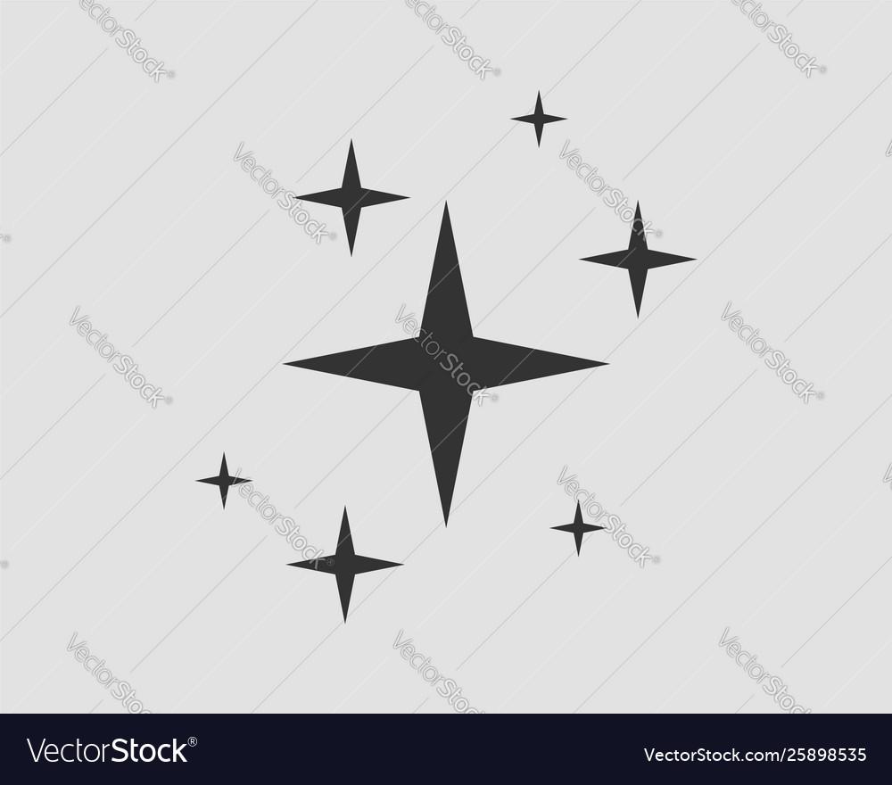 Galaxy stars icon design element