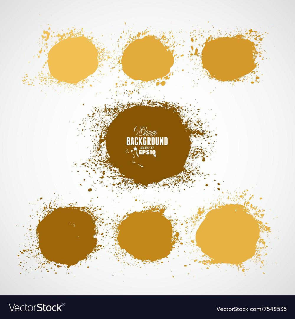 Grunge circles vector image