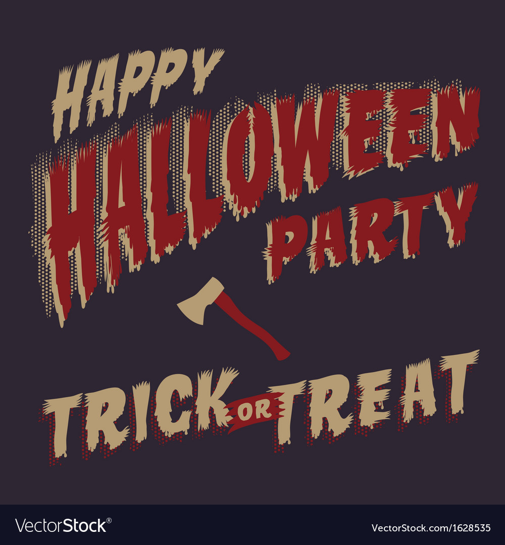Halloween Party design template for