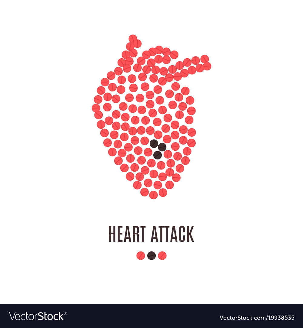 Heart Attack Awareness Poster Royalty Free Vector Image