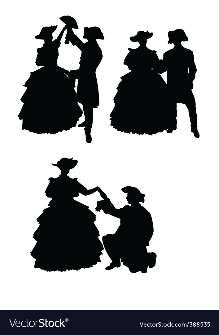 Lady silhouette vector image