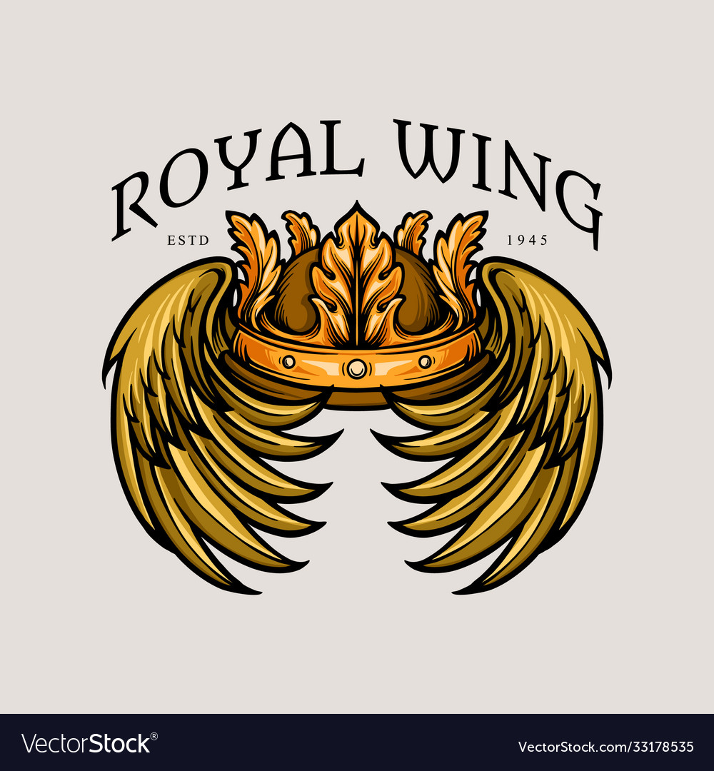 Leaf crown royal wing vector
