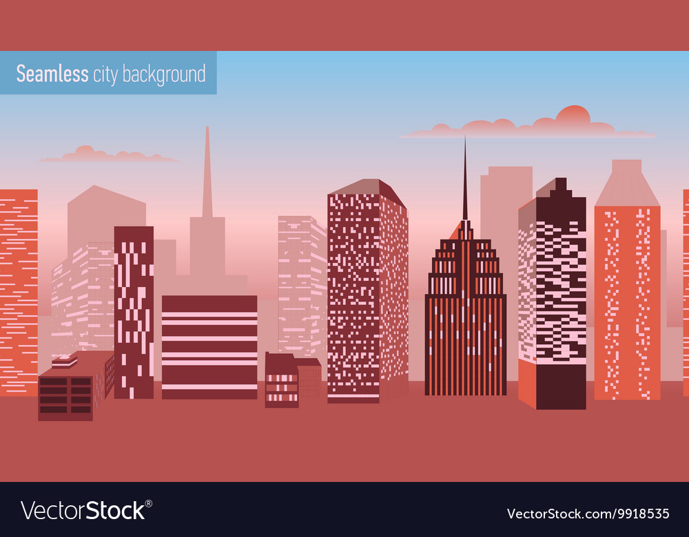 Seamless pattern with architectural building vector image